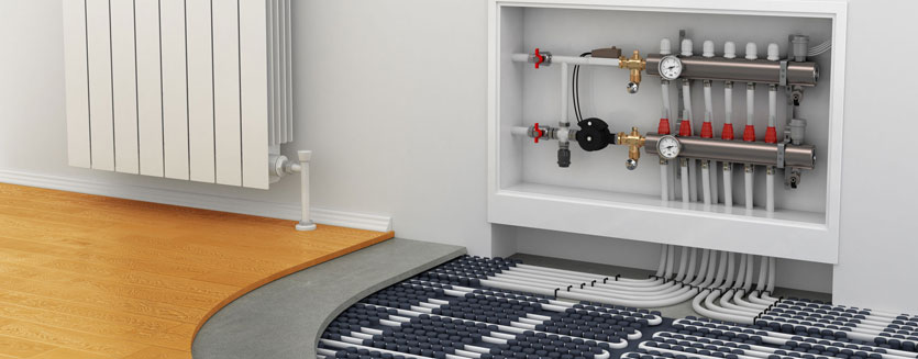 laying underfloor heating under laminate